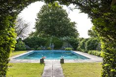 The property is currently owned by James Wilby, the actor best known for roles in Maurice, Gosford Park and A Handful Of Dust, and has an outdoor swimming pool set in the lush grounds