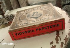 """ChiPPy! - SHaBBy!: ViNtaGe """"Queen Victoria"""" Paper Box""""..."""
