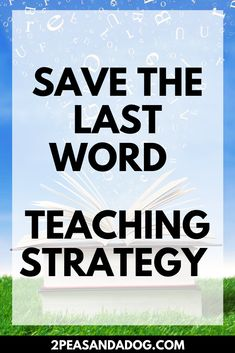 The Save The Last Word teaching strategy is a fantastic way to get all students to practice both speaking and listening in the classroom. This is a great lesson idea for your middle school ELA classroom from 2 Peas and a Dog. Teaching Strategies, Teaching Tips, Public Speaking Activities, Lesson Plan Binder, Lesson Plan Templates, Middle School, High School, English Lessons, Teaching English