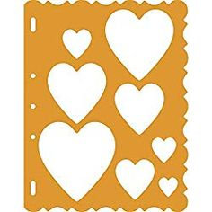 Fiskars 48557097 ShapeTemplate Tool, Hearts with Victorian Border Shape Templates, Plastic Design, Amazon Art, Sewing Stores, Silicone Molds, Sewing Crafts, Stencils, Victorian, Shapes