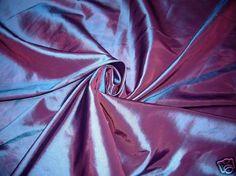 PURPLE SHOT RED FAUX SILK TAFFETA FABRIC 4CURTAIN DRESS