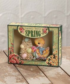 Swing Into Spring Shadowbox from The Holiday Barn