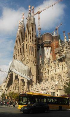 Fagrada Familia in progres....Barcelona Catalonia by Rosalia Casas