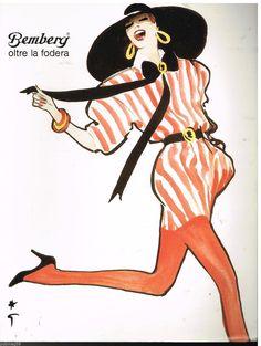 -Gruau, René (b,1909)- Woman Wearing La Fodera (Bemberg- ad)