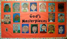 God's Masterpieces Bulletin Board Idea