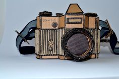 Creative cardboard camera. I love how they have drawn on it to make the camera look more realistic.