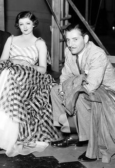 """ronaldcolmans: """" Myrna Loy with Ronald Colman who visited the set of The Thin Man (1934) """""""