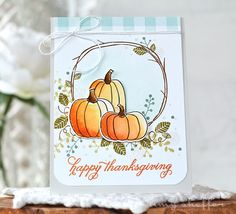 Happy Thanksgiving Card by Amy Sheffer for Papertrey Ink (August 2016)