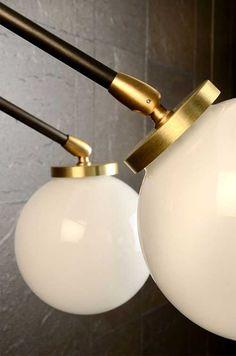 CTO Lighting Array Twin Opal Wall Light detailllls