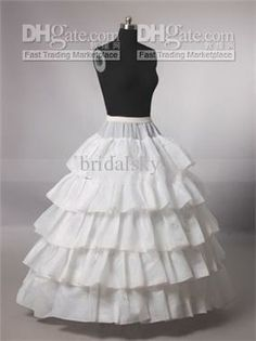 Cheap underskirt crinoline, Buy Quality 4 hoop directly from China hoop skirt Suppliers: 4 Hoops 5 Layers Wedding Bridal Petticoat Underskirt Crinolines For Ball Gown Wedding Dresses Accessories Hot Selling Hoop Skirt
