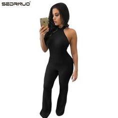 4fb445ab8c9a Women New Fashion Rompers And Jumpsuits Women Sexy Backless Sleeveless  Playsuit Bodysuits Elegant Knitted Jumpsuits Bodycon
