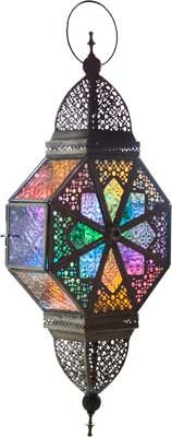 large multi color Moroccan lantern