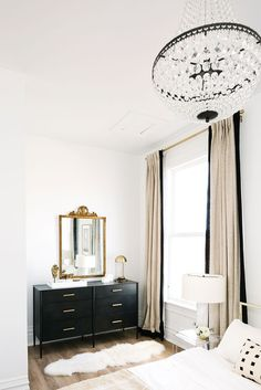 Neutral glam interiors