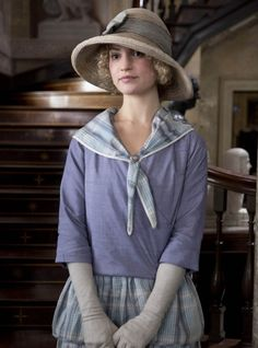 Lily James as Rose in Downton Abbey