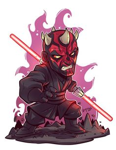Chibi Darth Maul by Derek Laufman Darth Maul, Star Wars Darth, Star Trek, Star Wars Fan Art, Star Wars Cartoon, Cartoon Art, Star Wars Karikatur, Happy Star Wars Day, Chibi Marvel
