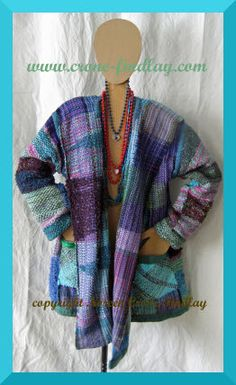 Handwoven Gypsy jacket by Noreen Crone-Findlay, via Flickr.