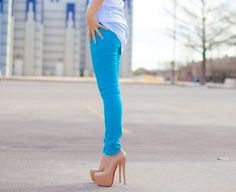 blu jeans pumps <3