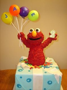 Elmo Birthday Cake By JWinslow on CakeCentral.com