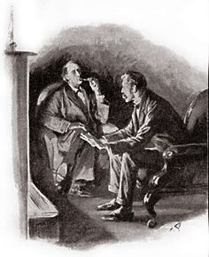 The Hound of the Baskervilles Chapter XV A Retrospection SIDNEY PAGET The Strand Magazine, April 1902 'PERHAPS YOU WOULD KINDLY GIVE ME A SKETCH OF THE COURSE OF EVENTS FROM MEMORY.'