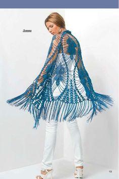 Chal Patron con Dibujo Central - Patrones Crochet