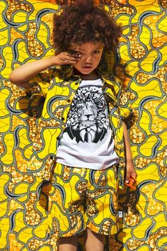 Kwadusa Yellow African Wax Print - Kidswear - Kid's Fashion