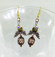 Angel Week - Get your Christmas shopping done early! Angel Earrings//Antique Copper Earrings//Spiral Earrings//7th Anniversary https://www.etsy.com/shop/IntuitiveAdornments https://www.amazon.com/handmade/Intuitie-Adornments - Next week will feature wire wrapped pendants! - #Angelearrings #Angeljewelry #Antiquecopperearrings #spiralearrings #7thanniversary #Christmasgift