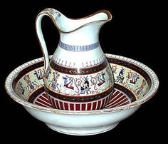 RP: PORCELAIN EGYPTIAN REVIVAL WASH SET c. 1865 | eBay.com