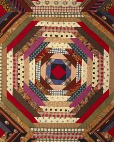 log cabin quilt patterns   Quilt, 'Log Cabin' Pattern, 'Pineapple' ...   More Pineapples than Do ...
