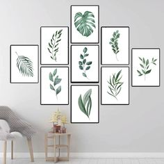 Cactus Wall Art, Leaf Wall Art, Cactus Print, Botanical Wall Art, Botanical Prints, Botanical Decor, Wall Art Sets, Wall Art Decor, Impressions Botaniques