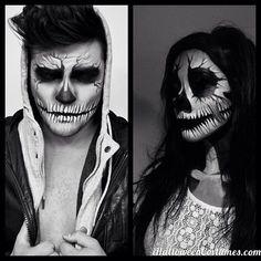 skulls makeup for Halloween - Halloween Costumes 2013