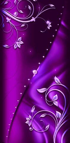 By Artist Unknown. Bling Wallpaper, Bear Wallpaper, Luxury Wallpaper, Purple Wallpaper, Purple Backgrounds, Flower Backgrounds, Mobile Wallpaper, Pattern Wallpaper, Wallpaper Backgrounds