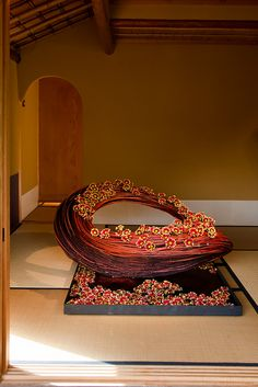 Flower design by Daniël Ost in the Japanese garden by bluebluewave, via Flickr