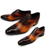 Handmade Mens fashion Oxford dress leather shoe... - $189.99
