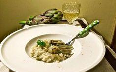 Imapriamo a non buttare via niente: risotto con i gambi di carciofo #ricette #recupero #vegetariano #cibo