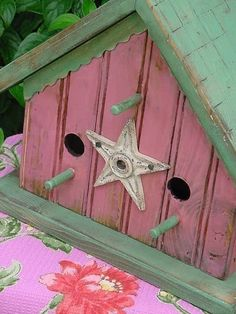 shabby chic birdhouses | Shabby Chic Birdhouse Romantic Pink French by baconsquarefarm