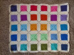 no pattern - for inspiration (but any simple square motif pattern would work for this)