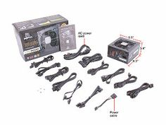 XFX P1-850B-BEFX 850W ATX12V 2.2 & ESP12V 2.91 SLI Ready CrossFire Ready 80 PLUS GOLD Certified Full Modular Active PFC Power ...