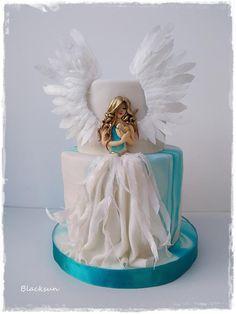 Sweet Angel birthday cake by Blacksun