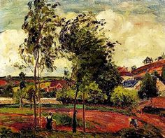 """""""Strong Winds, Pontoise"""" 1877. Camille Pissarro."""