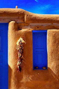 blue window  southwest beauty