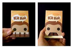 Kit Kat candy Packaging design by Jacqueline Chou, via Behance