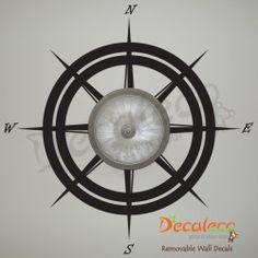 Compass Ceiling Decal for Boy nautical room Cheap Wall Decals, Removable Wall Decals, Vinyl Wall Decals, Contemporary Wall Decals, Boys Nautical Bedroom, Nautical Compass, Vinyl Wall Quotes, Nautical Design, Ceiling Fixtures