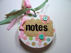 Pink and Green Chipboard Notebook Mini Notebook by HampshireRose, $15.00