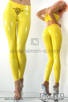 Latex Leggings -slippery when wet-