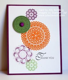 Uses a different set but would be cool with Circle Circus, too.  Julie's Stamping Spot -- Stampin' Up! Project Ideas Posted Daily