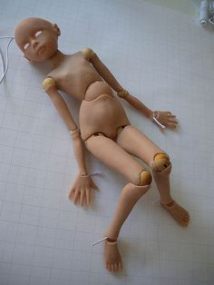 Super Sculpey Ball Joint Doll