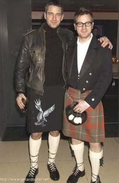 Gerard Butler and Ewan McGregor. OMG in heaven!!  2 hot Scottish men!!!  *swoon* This is why I want to go visit there!!