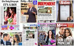News that the Duchess of Cambridge has given birth to the future king has been   celebrated on the front page of every paper in Britain...July 22, 2013