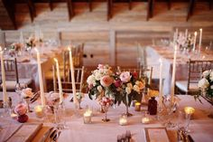 REVEL: Blush Tablescape With Taper Candles
