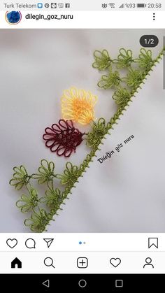 Needle Lace, Baby Knitting Patterns, Tatting, Needlework, Diy And Crafts, Embroidery, Instagram, Model, Herbs